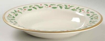 "Lenox Fine China ~ HOLIDAY 9"" Soup/Pasta Bowl Gold RIMMED Holiday (NEW)"