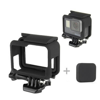 For HERO5 Black Protective Frame Housing Case Shell Mount + Soft Lens Cap Fad BS
