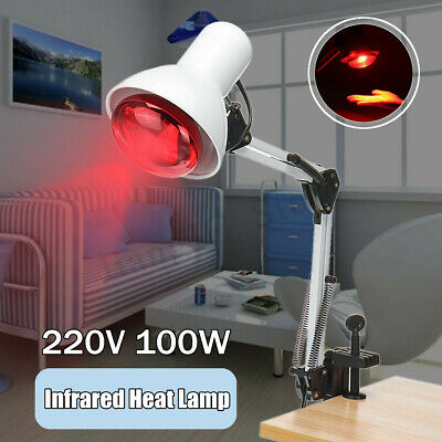 100W Infrared Heat Lamp Health Pain Relief Physiotherapy Therapy Floor Stand E27