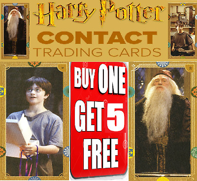 Panini Harry Potter Contact Trading Cards ☆ SINGLE CARDS ☆ BUY 1 GET 5 FREE!