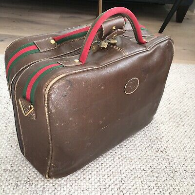 0c6ac995198 Authentic Vintage GUCCI Duffel Bag Carry On Travel Bag Suitcase Luggage