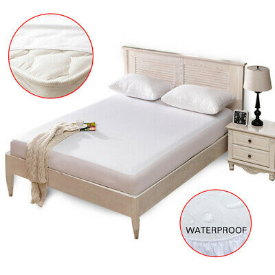 New Mattress Cover Waterproof Bed Bedding Sheet Protector Fitted Deep Pad Soft
