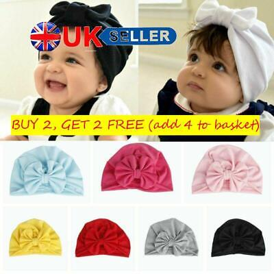 Toddler Hair Accessories Girl Cotton Turban Bow Cap Boy Beanie Baby India Hats