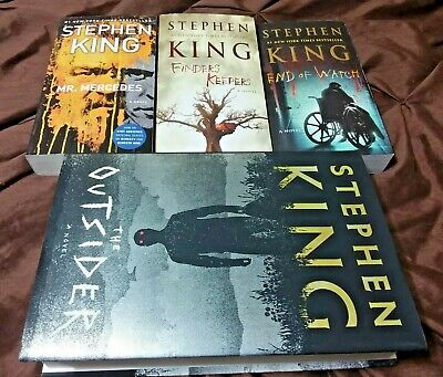 Bill Hodges Trilogy + The Outsider (PB&HB) New! - Stephen King