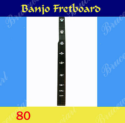 Free Shipping, Banjo Part - Slotted Fretboard w/MOP Art Inlay (G-80-6)