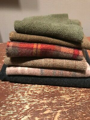 Lot of WOOL MATERIAL FOR RUG HOOKING Penny Rugs Applique
