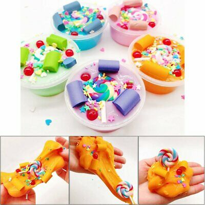 Foam Lollipop Cloud Slime Putty Plasticine Sludge Relief Mud Clay Toy Strict &H
