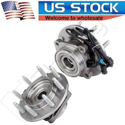2 Pcs Front Wheel Hub & Bearing Assembly for Chevy GMC Pickup Truck 8 LugW/ABS