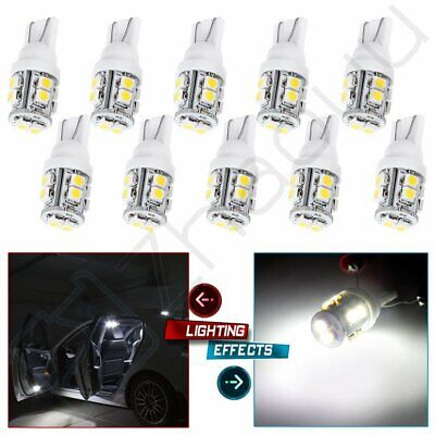 10x T10 White 921 168 194 2825 10-SMD-3528 LED Wedge Backup Interior Light Bulbs