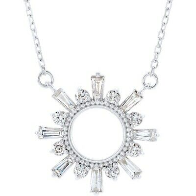 Diamond Sunburst Necklace ½ ctw 14kt yellow white or rose gold 16 or 18 in chain