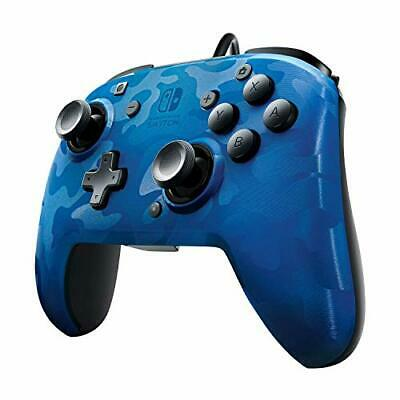 PDP Nintendo Switch Blue Camo Faceoff Wired Pro Controller, 500-119 - Nintendo S