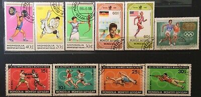 World Stamps Mongolia 1970-80s Olympic Games (B7-71)