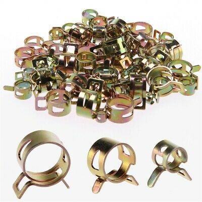 10x Metal Spring Petrol Pipe Clips Spring Steel for Motorcycle Secure Fuel Hose