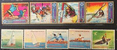 World Stamps Guinea Ecuatorial 2 Lines Stamps Olympic Games Fine CTO (B7-84)
