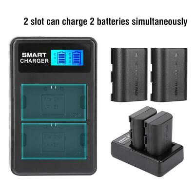 Portable LP-E6 Dual-Channel Camera Battery Charger for Canon EOS 5DS 5D Mark II