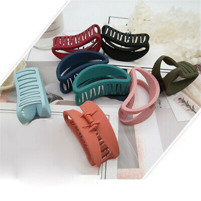 Multi-color Ladies Hollow Hair Claw Clamp Clips Hairpins Hair Beauty Tools 6A