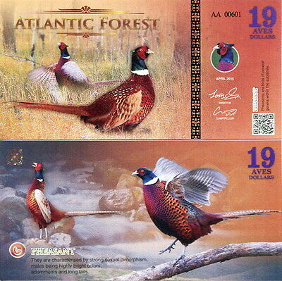 ATLANTIC FOREST - 19 aves dollars 2016 FDS UNC