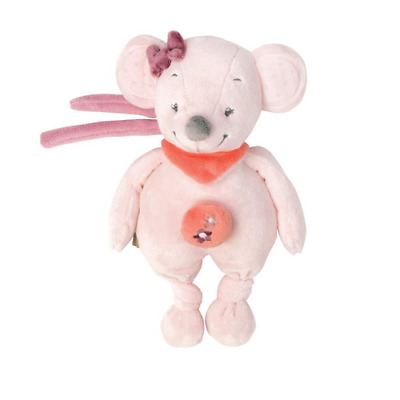 Brand new Nattou Adele and Valentine mini musical toy in Valentine the mouse