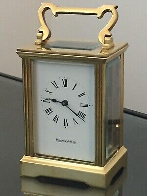 """Vintage Of 1889 """"MAPPIN & WEBB"""" 8 Day, Jewelled Swiss Mech Move Carriage Clock"""