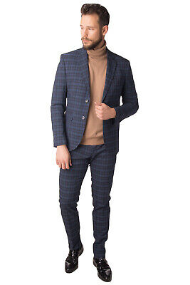 GAUTIERI Suit Size IT 50 / L Patterned Single Breasted Made in Italy