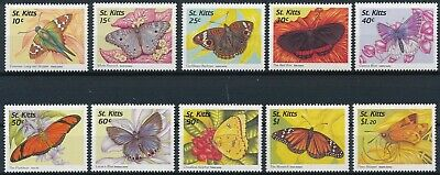 [H16700] St Kitts 1997 BUTTERFLIES - Fauna Good lot of stamps very fine MNH