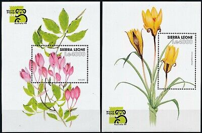 [H16704] Sierra Leone 1999 FLOWERS - Expo Good set of 2 sheets very fine MNH