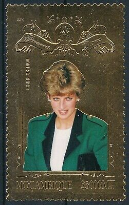 [H16753] Mozambique 1999 LADY DIANA - Royalty Good GOLD stamp very fine