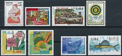 [H17038] Mayotte After 2000 Good lot of stamps very fine MNH