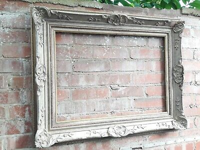 Large heavy Vintage antique distressed ornate gold picture frame 93cm x 73cm .