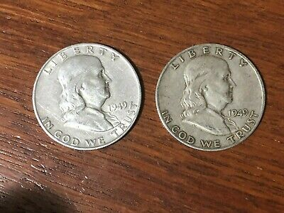 Franklin Silver Half Dollar LOT (1949-S and 1962-D)