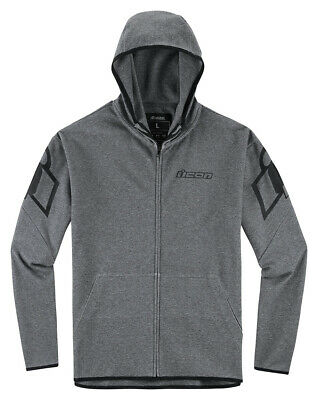 Icon OVERLORD Zip-Up Lightweight Shell Hoody Jacket (Charcoal Grey) Choose Size