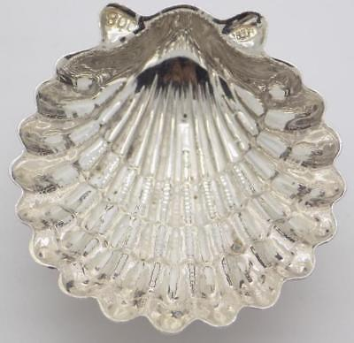 Vintage Solid Silver Italian Made Mini Shell Shaped Bowl, Stamped