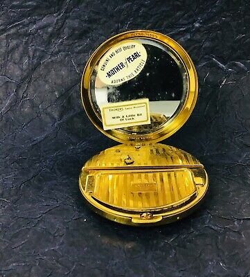 Vintage Musical Mother of Pearl Make Up Compact