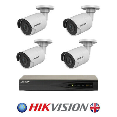 4 x Hikvision 4mm 4MP Outdoor Mini Bullet IP Security Camera with NVR recorder