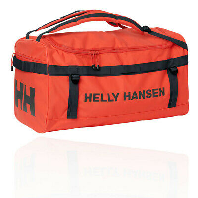 Helly Hansen Unisex Classic Large Duffel Bag Black Orange Sports Waterproof 087107a71e36