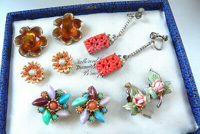 Vintage Jewellery Mixed Lot Of Earrings Clip On Various Styles