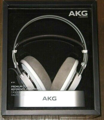 AKG K701 Studio Reference Dynamic / Open Air Headphones Leather Head Band NEW sh