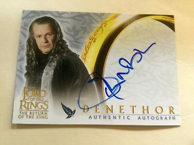 Topps Lord Of The Rings LOTR John Noble As Denethor ROTK Autograph Card
