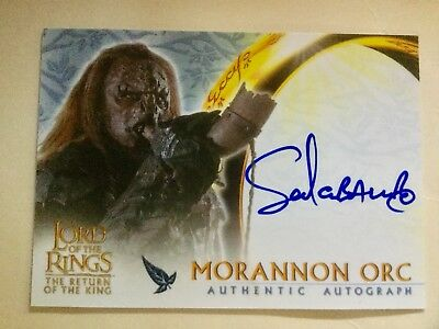 Topps Lord Of The Rings LOTR Sala Baker As Morannon Orc ROTK Autograph Card