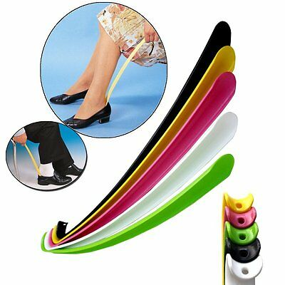 Long Handle Shoehorn Shoe Horn Lifter Disability Aid Stick Durable Flexible 42cm