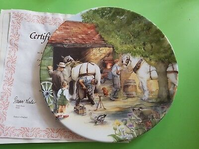 The Blacksmith Old Country Crafts Susan Neale Royal Doulton Collector Plate