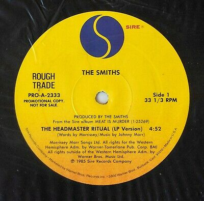 "The Smiths The Headmaster Ritual 12"" Promo LP version/edit Morrissey Marr"