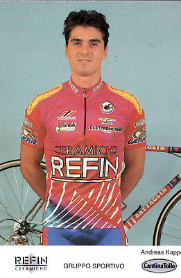 Cyclisme-Wielrennen-Ciclismo - 1 Carte - Andreas Kappes - Refin