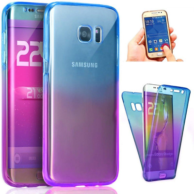 Galaxy J7 2017 Case,ikasus [Full-Body 360 Coverage Protective] Gradient Color Ul