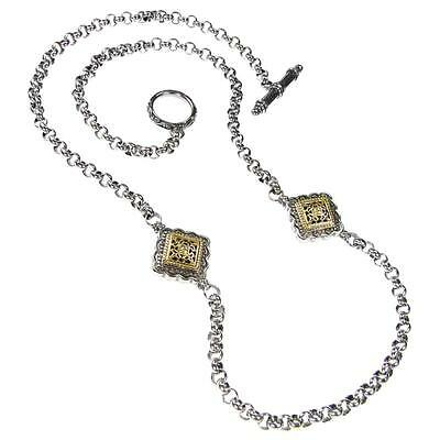 Gerochristo 3395 ~ Solid Gold & Silver- Medieval Byzantine Station Necklace