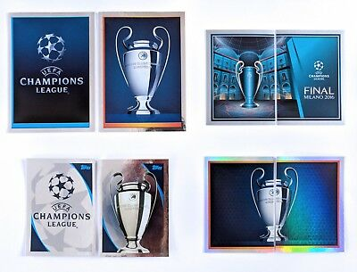Topps UEFA 8 Champions League Trophy Cards 2015/16 2016/17 2017/18 Match Attax