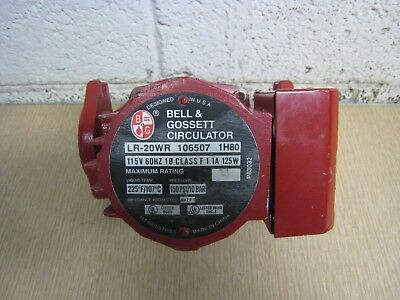Bell & Gossett LR-20WR 106507 1/15HP 115V Cast Iron Circulator Circulation Pump