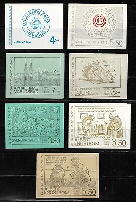 Sweden lot +/- 50 years old booklets MNH. Facit catalogue approx. US$ 55. 3 pics