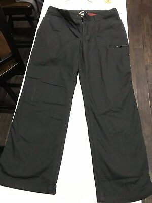7ba283cc71d Duluth Trading Cotton Flex Stretch Fleece Lined Womens Work Pants Black  12x31
