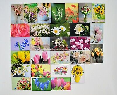 Dolls House Miniature Paintings Pictures Flowers Roses Tulips Lily Mothers Day